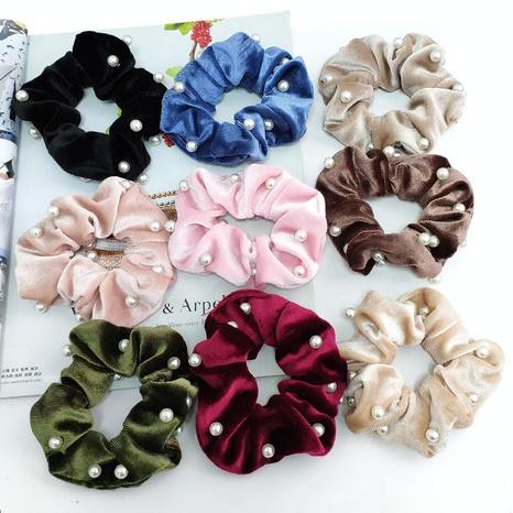 Chouchous à la mode en velours perlé NHAQ297033's discount tags