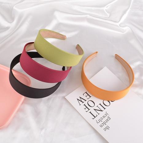 bonbonfarbenes Satin-Stirnband mit breitem Rand NHAQ297034's discount tags