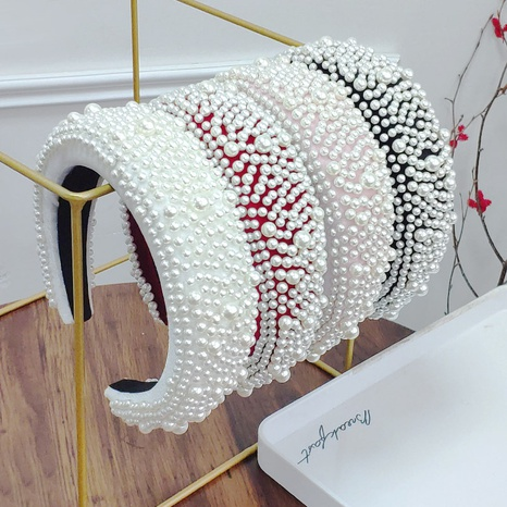 diadema de franela de perlas de esponja de moda NHAQ297042's discount tags