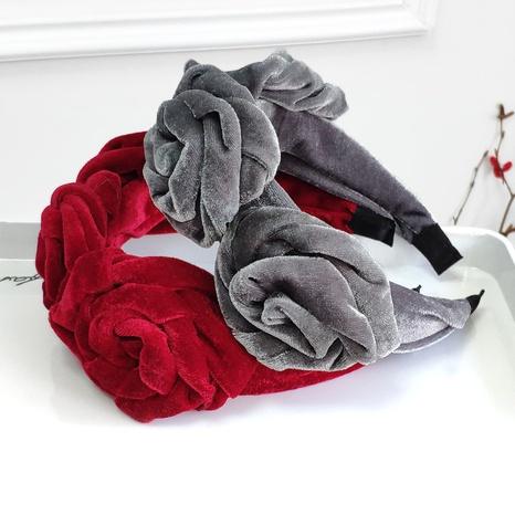 Mode Blume Samt Stirnband NHAQ297048's discount tags