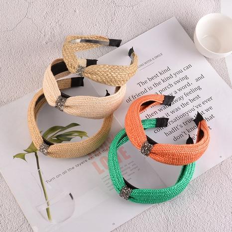 Breitseitig geflochtenes Stirnband NHAQ297050's discount tags