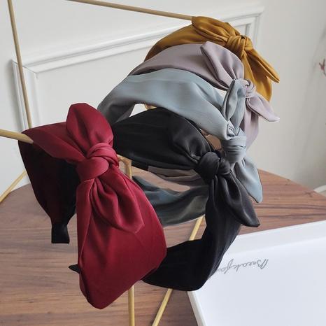 Bogen breite Kante einfarbig Mode Stirnband NHAQ297051's discount tags