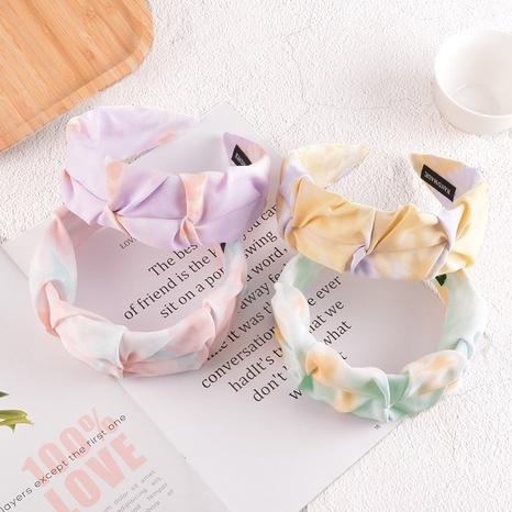 retro fold floral headband  NHAQ297052's discount tags