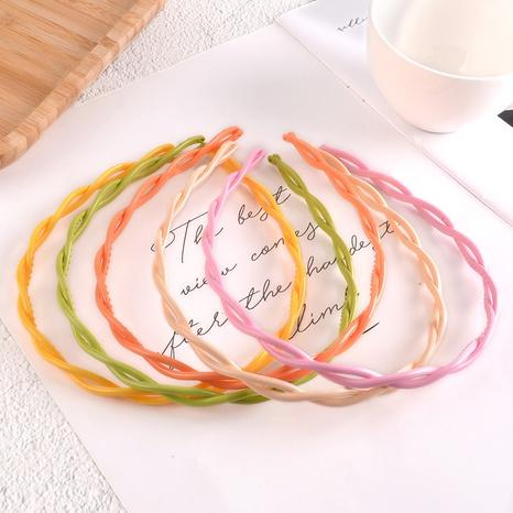 reines farbiges einfaches Twist-Stirnband NHAQ297055's discount tags