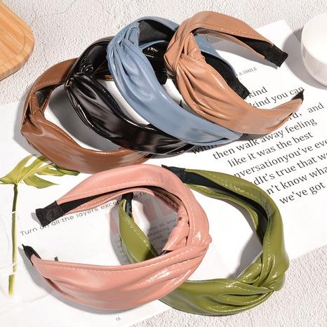 Lederband mit breiter Krempe NHAQ297064's discount tags