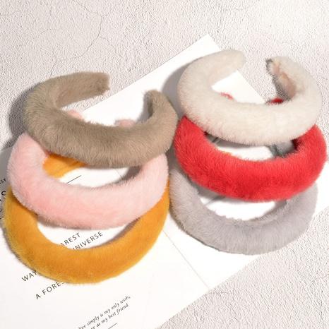 Plüsch Stirnband mit breiter Kantenverdickung NHAQ297062's discount tags