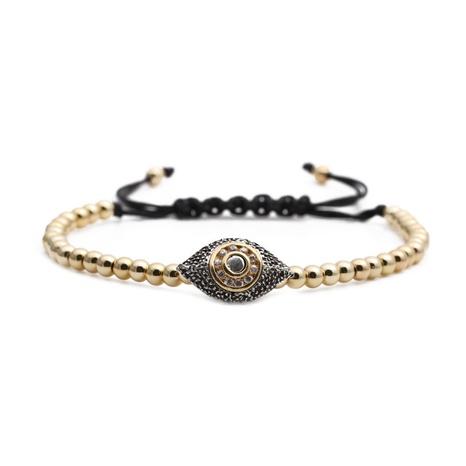 micro-inlaid zircon Devil's eye adjustable bracelet NHYL297071's discount tags