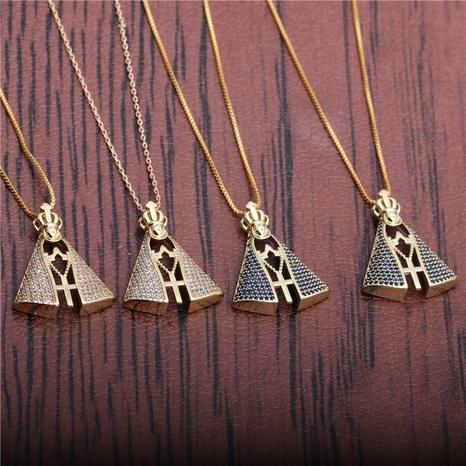 corona colgante collar de cruz NHYL297088's discount tags