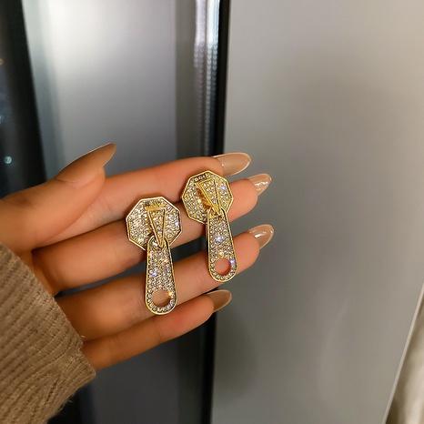 925 Silber Nadel Diamant Reißverschluss Ohrringe NHQC297237's discount tags