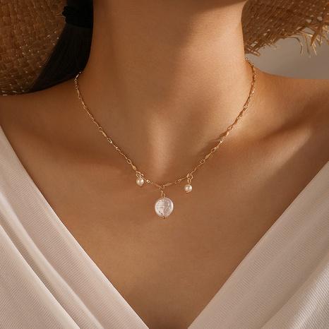 einfache retro geformte Perlenkette NHGY298311's discount tags