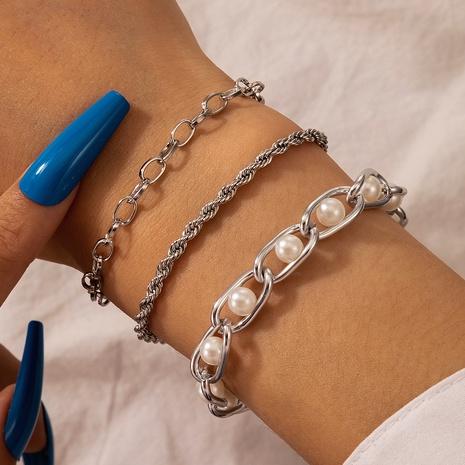 fashion wild hip hop pearl chain bracelet  NHGY298309's discount tags