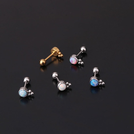 New mini screw ball single earrings NHEN296859's discount tags