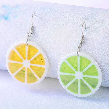 Heart fruit resin lemon earrings NHGY297939's discount tags