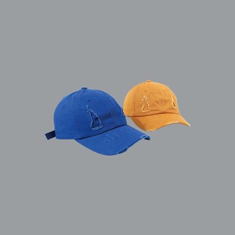 Venta caliente venta al por mayor de gorra de béisbol con agujeros de color sólido NHTQ258738's discount tags