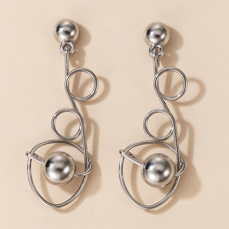 Spiral line earrings women NHGY297937's discount tags