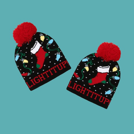Christmas knitted hat female treasure  wild hair ball children hat  NHTQ270142's discount tags