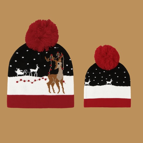 Christmas fawn woolen hat  NHTQ272791's discount tags