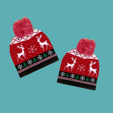 knitted Christmas wool ball red hat  NHTQ272789's discount tags