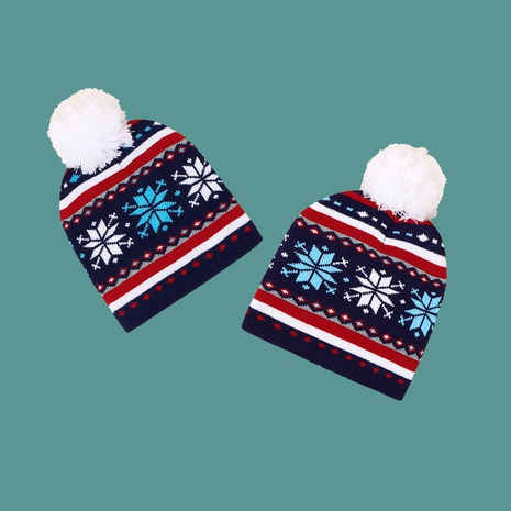 Christmas fashion Santa Claus wool ball knitted hat NHTQ272788's discount tags