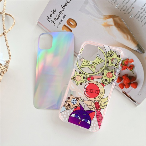 Beautiful girl magic array laser transparent mobile phone case for Apple 11Proiphone8plusSE2XR  NHFI297137's discount tags
