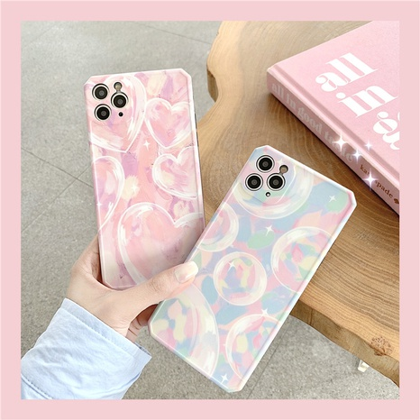 Oil painting love bubble iPhone11 mobile phone case for Apple promax 7plus silicone soft cover XRSE2 NHFI297140's discount tags