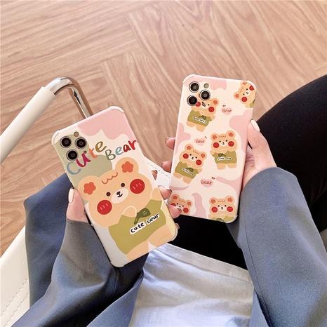 Korean style cute cartoon couple blush bear 12mini11pro mobile phone case for Apple XRse28P NHFI297156's discount tags