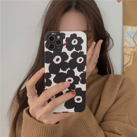 Korean simple flower 12mini11pro mobile phone case for Apple se2XRX8plus NHFI297158's discount tags