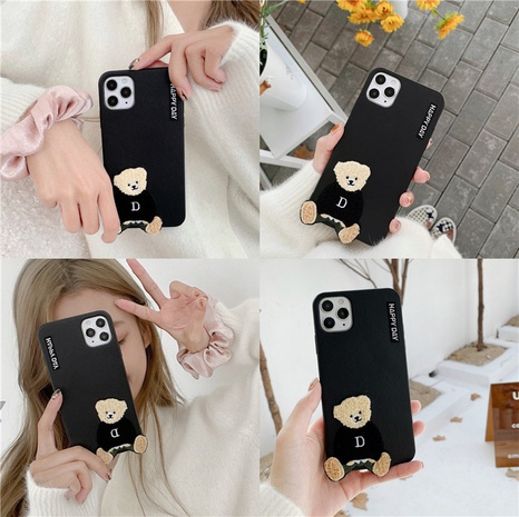 new leather plush sweater bear 12mini11pro mobile phone case for Apple se2XRXS NHFI297183's discount tags