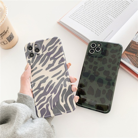 retro zebra pattern 12mini11pro mobile phone case for Apple 8plusXRse2XSmax soft NHFI297201's discount tags