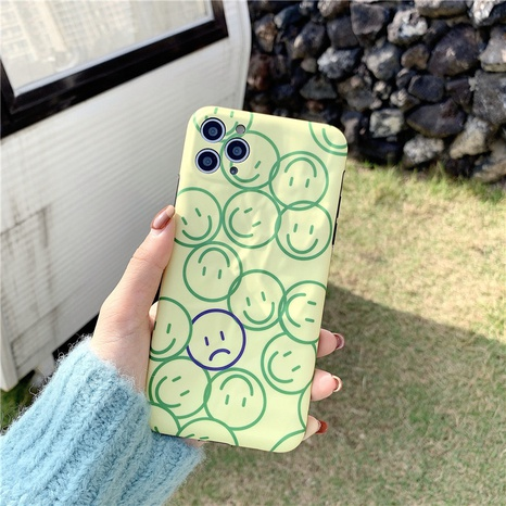 matcha green smiley face 12mini11pro origami phone case for Apple 8plusXRse2XS NHFI297206's discount tags