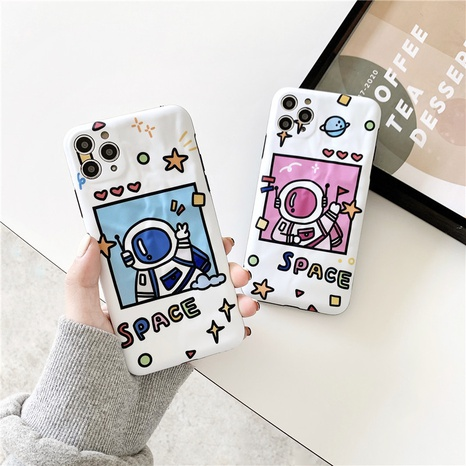 Cartoon astronaut soft shell 12mini11pro mobile phone case for Apple 8plusXRse2XS NHFI297207's discount tags