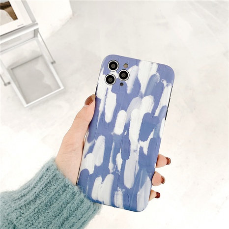 blue white pigment 12mini11pro origami phone case for Apple 8plusXRse2X NHFI297205's discount tags
