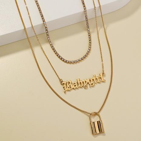 collier à pendentif lettre de mode NHAN297271's discount tags