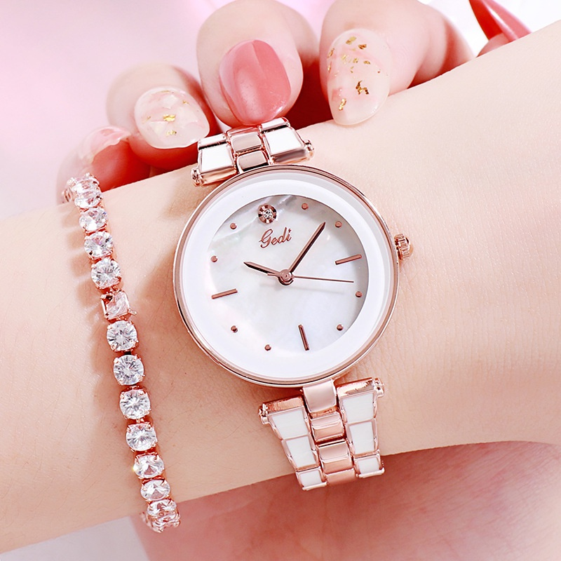 reloj de cuarzo con banda de acero NHSR297414