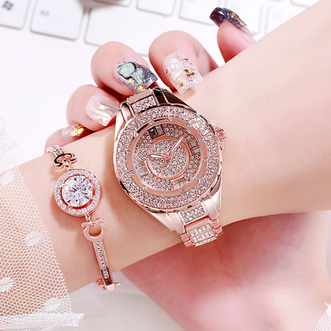 diamond-encrusted gypsophila fashion waterproof quartz watch NHSR297416's discount tags