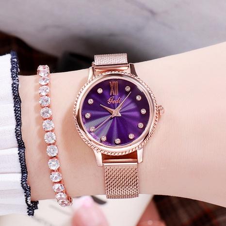 fashion mesh strap waterproof quartz diamond watch NHSR297420's discount tags