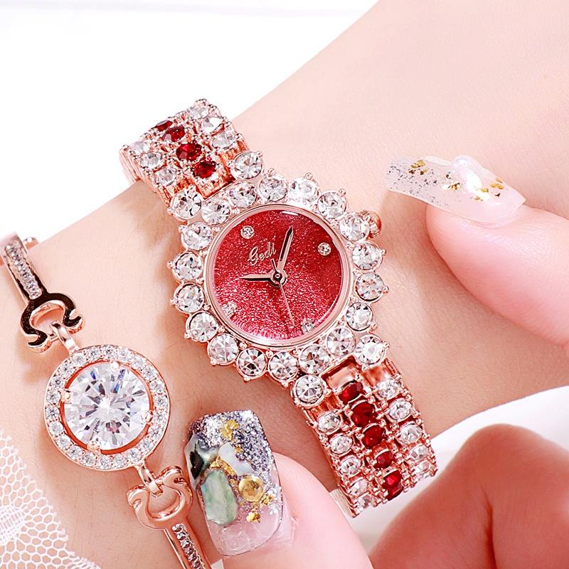 reloj de cuarzo con diamantes incrustados NHSR297421