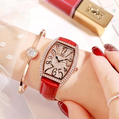 montre à quartz rétro en diamant NHSR297428's discount tags