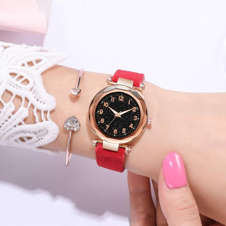 fashion frosted PU belt quartz watch  NHSY297432's discount tags