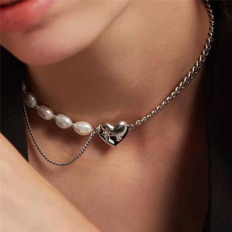 Barock Perlen Herz Halskette NHYQ297489's discount tags