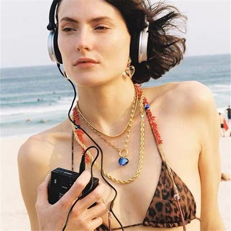 Retro blaue Herz Halskette NHYQ297511's discount tags