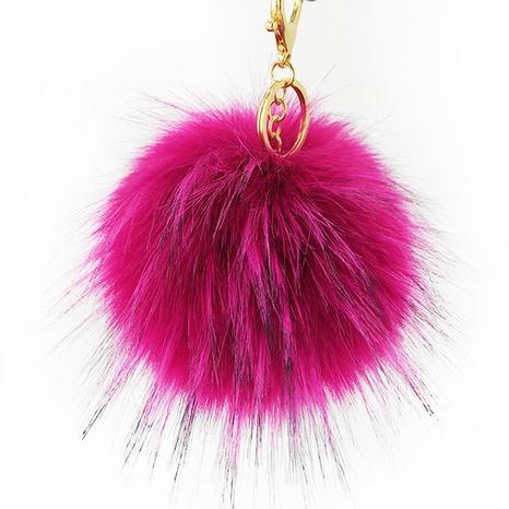 Colorful artificial imitation raccoon imitating fox fur ball key chain NHAP297566's discount tags
