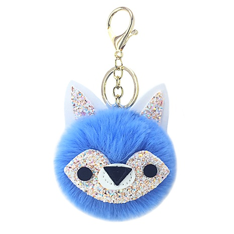 new PU sequined fox fur ball keychain NHAP297574's discount tags