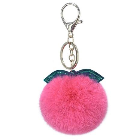 neue glänzende PU hinterlässt Nachahmung Rex Kaninchenfell Ball Schlüsselbund NHAP297579's discount tags