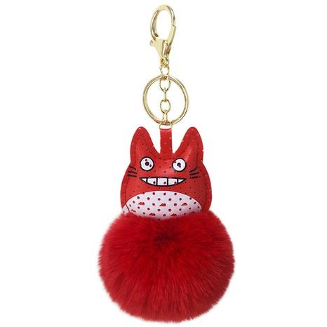 new PU cute cartoon chinchilla fur ball keychain  NHAP297581's discount tags