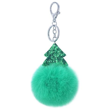 New Glitter Pailletten Weihnachtsbaum pelzigen Ball Schlüsselbund NHAP297583's discount tags