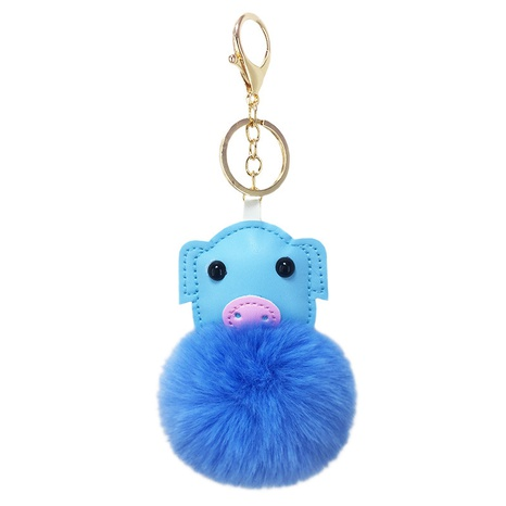 cash PU artificial leather pig animal hair ball keychain NHAP297586's discount tags