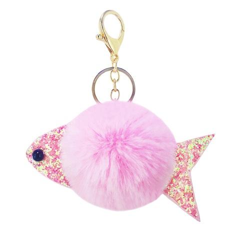 Neuer PU-Pailletten-Fischbund-Schlüsselbund mit kleinen Fischen NHAP297588's discount tags
