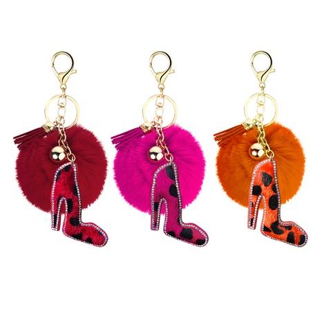 velvet diamond-studded leopard keychain  NHAP297591's discount tags