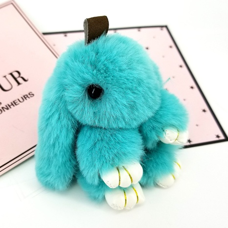 Mini 10CM Imitation Rex Rabbit Hair Cute Rabbit Keychain  NHAP297590's discount tags